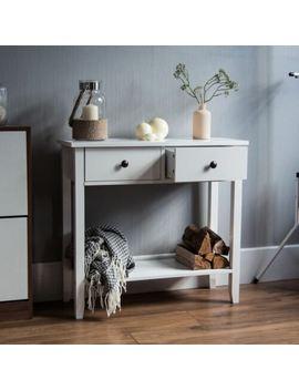 Windsor 2 Drawer Console Table Shelf Hallway Side End Dressing Table Desk White by Ebay Seller