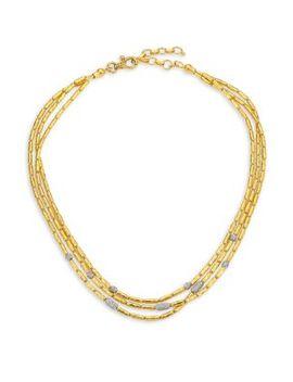 Vertigo Pavé Triple Strand Diamond Pavé Necklace by Gurhan