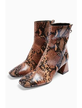 Breeze Square Toe Boots by Topshop