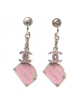Chanel Enamel Rue Cambon Cc Earrings Pink Gold by Chanel