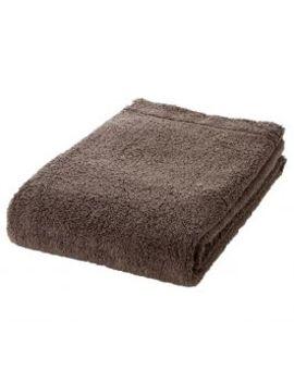 [Thick]Organic Cotton Bath Towel Brown 70x140cm by Muji