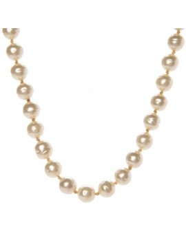Chanel Pearl Cc Short Necklace Ruthenium Red by Chanel