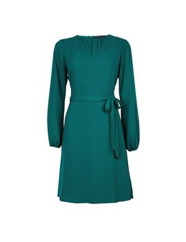 Green Pleat Neck Dress by Dorothy Perkins