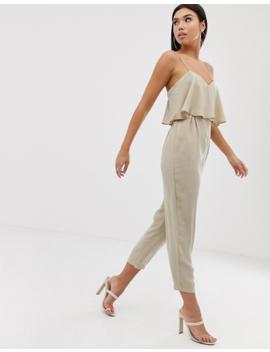 Asos Design – Doppellagiger Camisole Jumpsuit Mit Hose In Karottenform by Asos