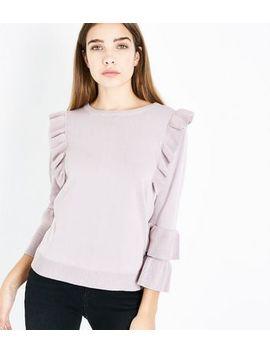 Pink Vanilla – Rosa Pullover Mit Rüschen by New Look