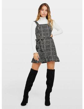 Petite Grey Jersey Boucle Pinafore Dress by Miss Selfridge