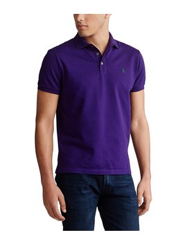 Solid Stretch Mesh Short Sleeve Polo Shirt by Polo Ralph Lauren