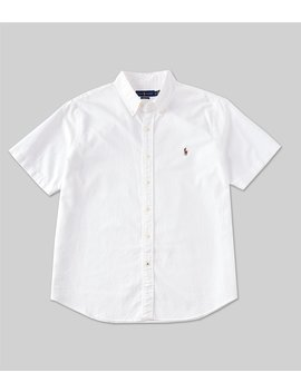 Solid Oxford Short Sleeve Woven Shirt by Polo Ralph Lauren