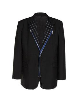Zip Trimmed Mohair And Wool Blend Blazer by Maison Margiela