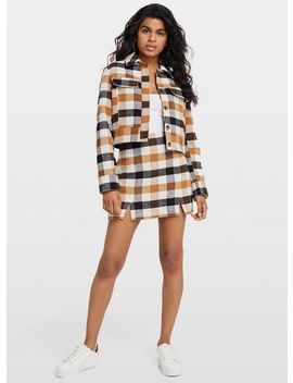 Petite Multi Colour Check Mini Skirt by Miss Selfridge