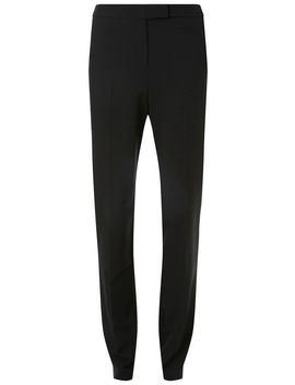 **Tall Black Poly Straight Trousers by Dorothy Perkins