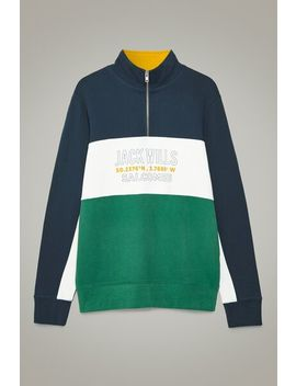 Partington Colour Block Track Top by Jack Wills