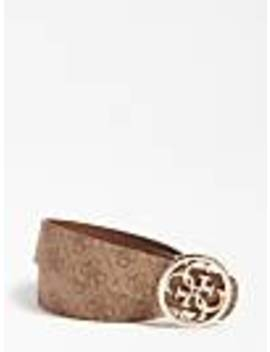 Bluebelle Reversible Belt With Logo Print by Guess