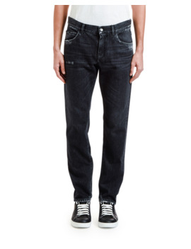 Men's Straight Leg Distressed Jeans by Dolce & Gabbana