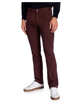 Men's Solid Straight Leg Jeans by Brioni