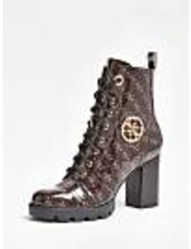 Ruray Logo Print Low Boots by Guess