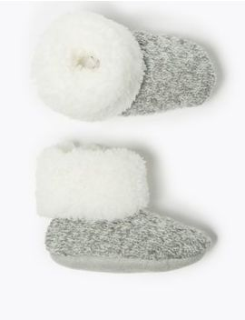 Fleece Lined Booties by Marks & Spencer