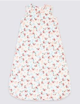 Cotton 2.5 Tog Floral Print Sleeping Bag by Marks & Spencer