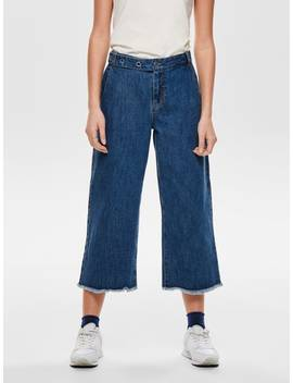 Onlaidan Mid Crop Belt Flared Jeans by Only