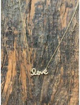 Sydney Evan Small 14k Gold And Diamond Love Necklace by Sydney Evan
