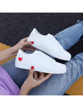 2019 New Shoes Woman Fashion Vulcanize Shoes Pu Leather White Shoes Casual Zapatillas Mujer Women Shoes Sneakers Hot Eur 36 42 by Ali Express.Com
