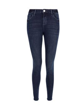 Blue Black 'Darcy' Skinny Ankle Grazer Jeans by Dorothy Perkins