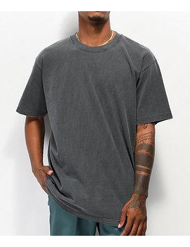 Shaka Wear Max Heavy Weight Garment Dye Black T Shirt by Shaka Wear