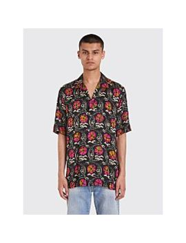 Dries Van Noten Carlton Tie Dye Floral Shirt Black / Fuchsia by Très Bien