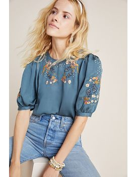 Khalo Embroidered Blouse by Dolan Left Coast