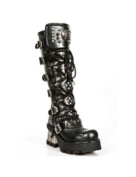 Newrock M.1030 S1 Black   New Rock Punk Gothic Biker Boots   Womens by Ebay Seller