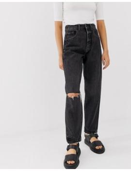 Cheap Monday – Zerknitterte Mom Jeans Mit Bio Baumwolle by Asos