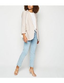 Tall Stone Twill Blazer by New Look