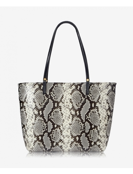 Tori Tote by Natural Italian Printed Python