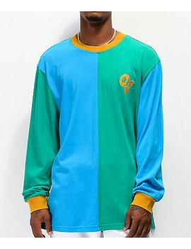 Odd Future Split Blue &Amp; Green Long Sleeve T Shirt by Odd Future