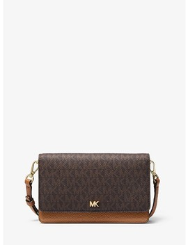 Logo And Leather Convertible Crossbody Bag by Michael Michael Kors