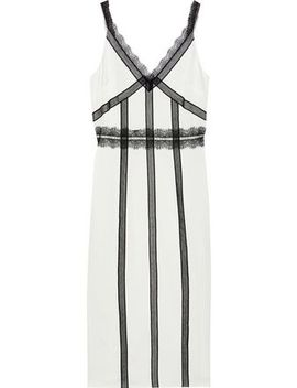 Lace Trimmed Charmeuse Midi Slip Dress by Jason Wu