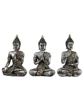 Set Of 3 Buddhas by Dunelm