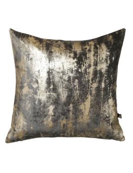 Blur Metallic Velvet Cushion Grey by Dwell