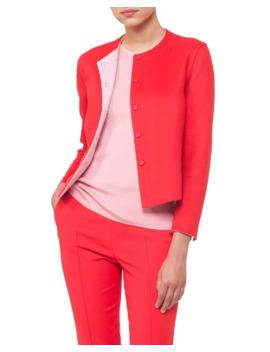 Akris Nashville Snap Front Short Reversible Cashmere Jacket by Akris