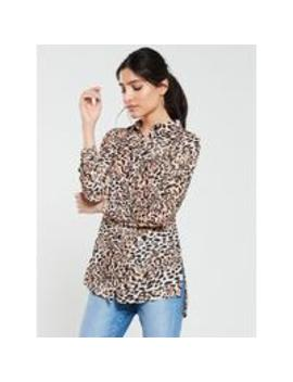 Printed Longline Shirt by V By Very