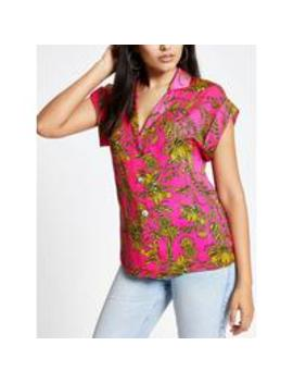 Printed Utility Shirt Pink by River Island