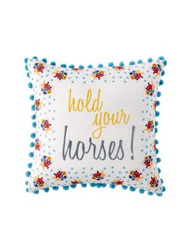 "the-pioneer-woman-hold-your-horses-decorative-throw-pillows,-18""-x-18"" by the-pioneer-woman"
