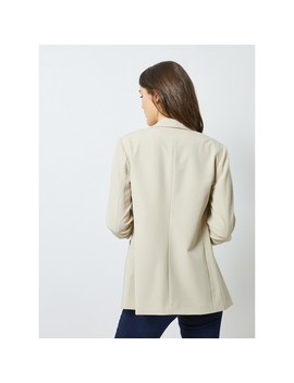 Tall Cream Ruched Sleeves Jacket by Dorothy Perkins
