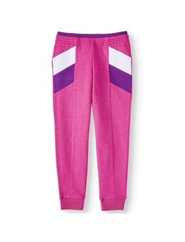athletic-works-colorblock-fleece-active-jogger-(little-girls,-big-girls-&-plus) by athletic-works