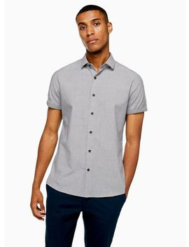 Grey Slim Turn Up Shirt by Topman
