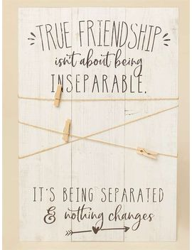 True Friendship Twine And Clip Frame by Altar'd State