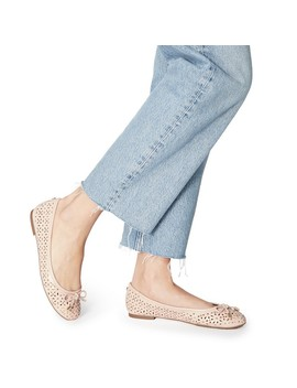 True Nude Leather 'heleina' Ballet Pumps by Dune