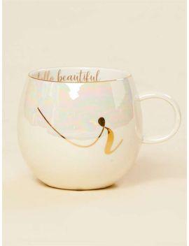 Hello Beautiful Iridescent Monogram Mug   R by Altar'd State