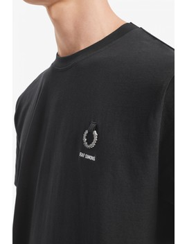 Raf Simons Crew Neck T Shirt by Fred Perry