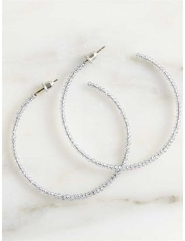 dainty-sparkle-hoop-earrings---grey by altard-state